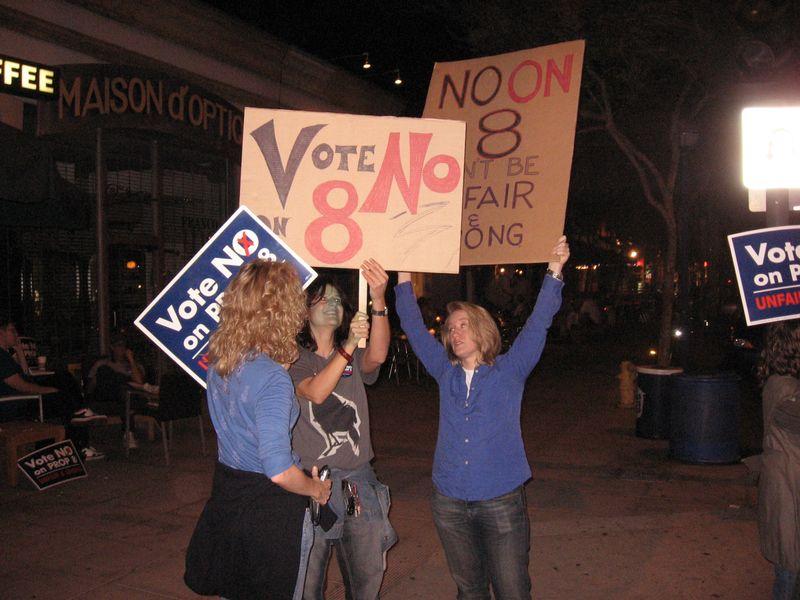 Ladies protest night